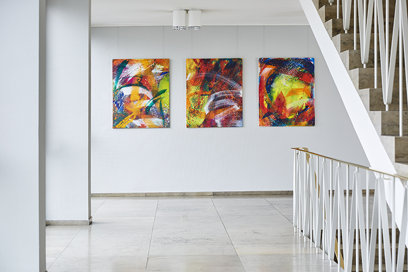 Helga Mols, Strange Loops Triptychon, 2016